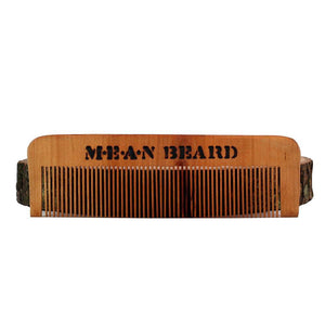 Torch-branded Coffee or Tobacco Infused Medium Tooth Wood Comb