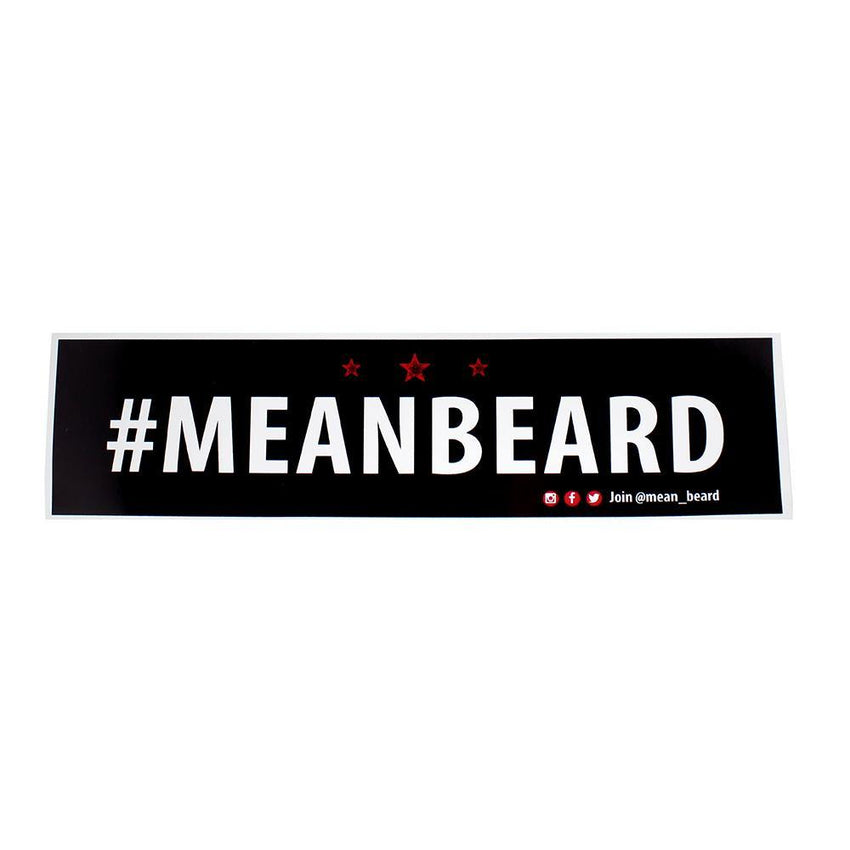 #MEANBEARD Bumper Sticker
