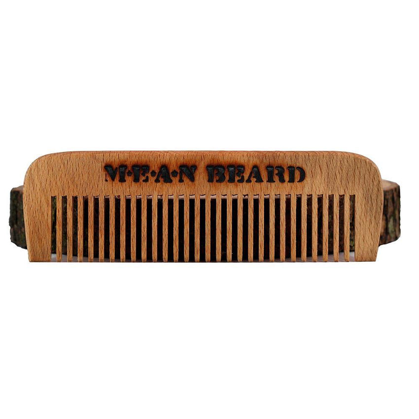 Torch-branded Coffee or Tobacco Infused Wide Tooth Wood Comb