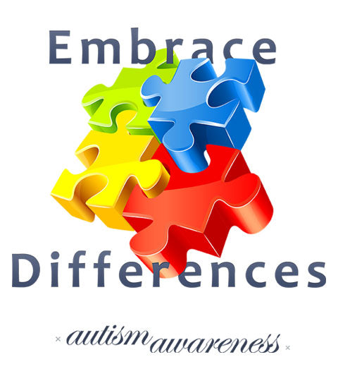 Embrace Differences Autism Awareness Apparel