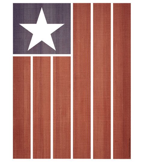 One Star American Flag - Design