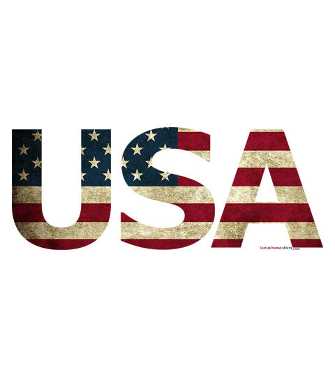 USA Flag in USA Letters
