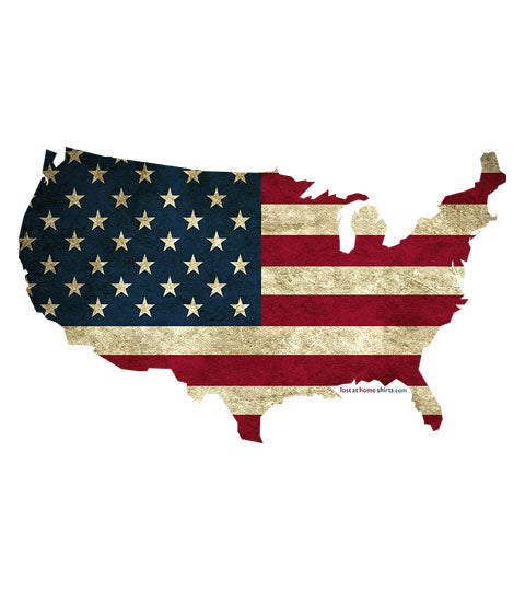 USA Flag in USA Map