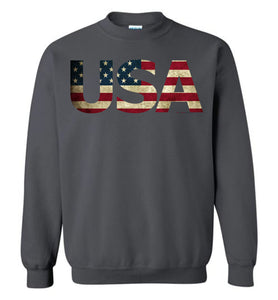 USA - Flag in Letters