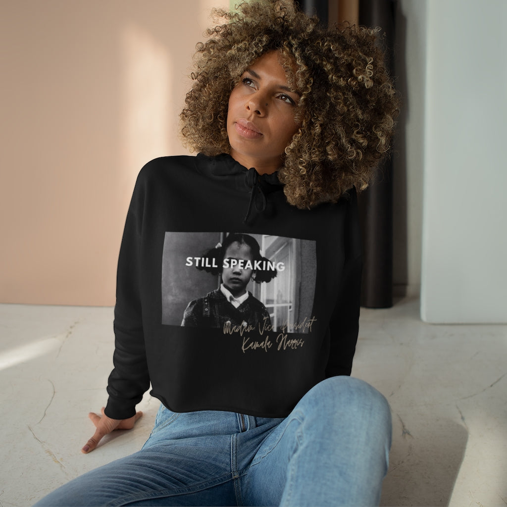 still speaking cropped hoodie