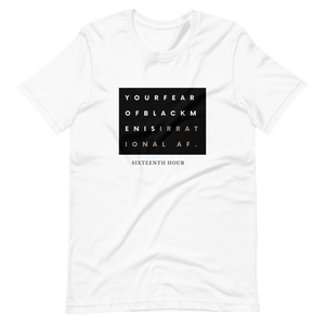 Open image in slideshow, irrational fear unisex tee