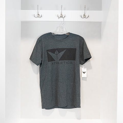 """Squared Up"" Tee - Dark Heather"
