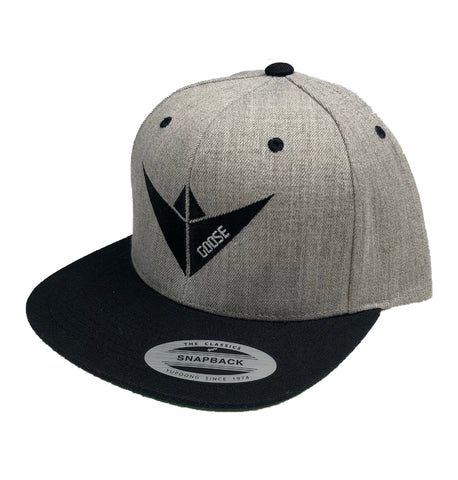 Goose Athletics Grey and Black snapback
