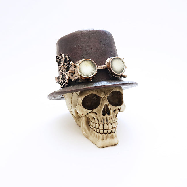 Skull - Steampunk Hat with Goggles