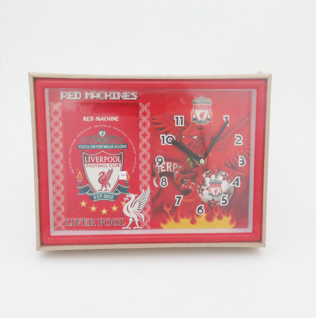 Football Club Rectangle Clock - Manchester United, Arsenal, Chelsea, Liverpool