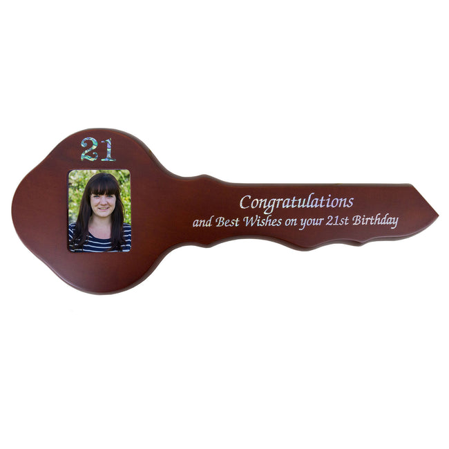 21st Wooden Key - Rectangle Photo
