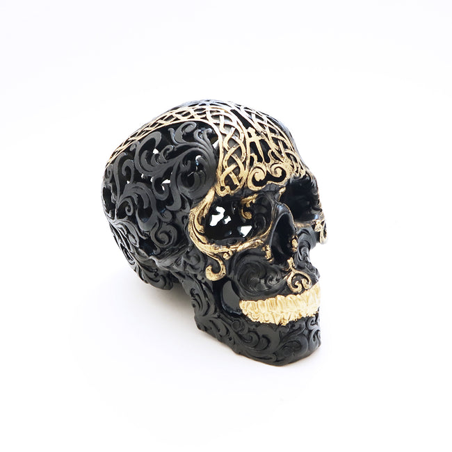 Skull - Black/Gold Tribal