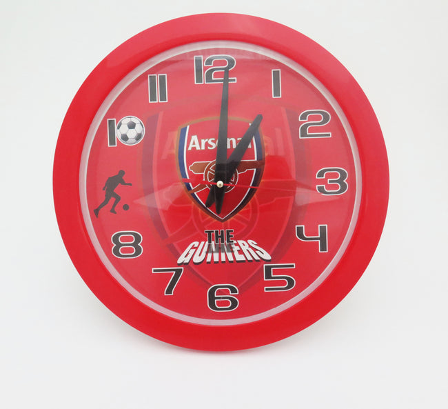 Football Club Round Clock - Manchester United, Arsenal, Chelsea