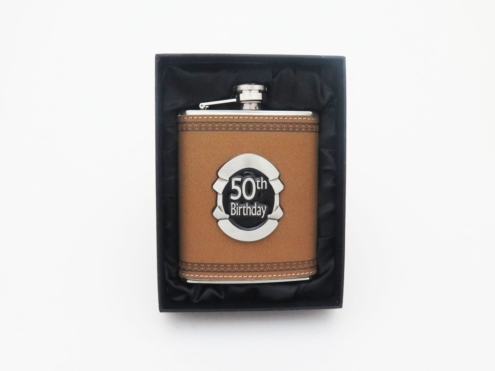 50th Birthday Hip Flask