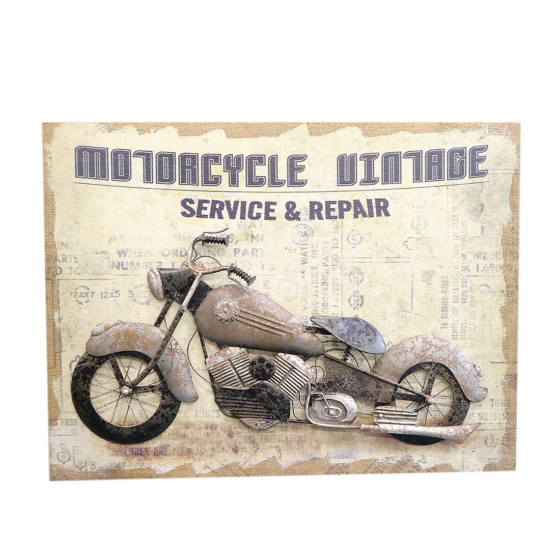 Canvas 3D Motor - Motorcycle Vintage