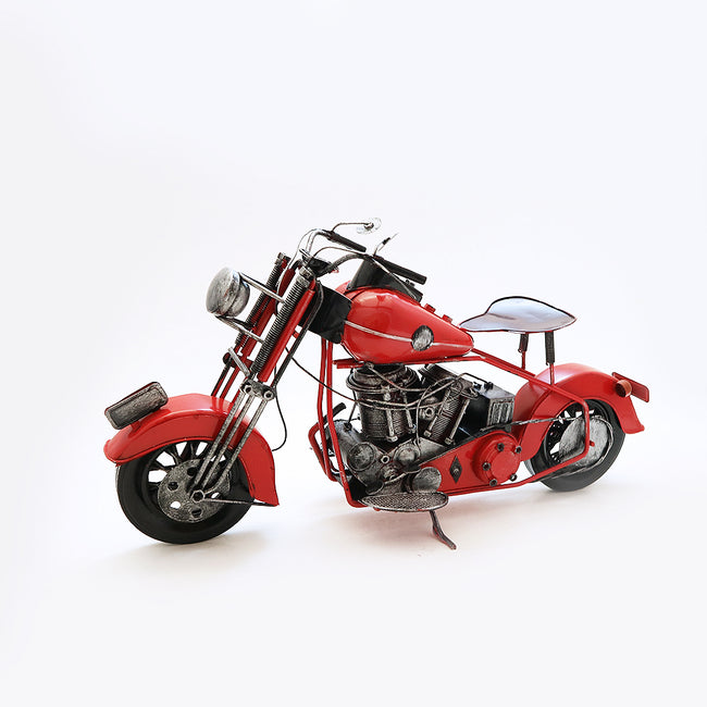 Harley Davidson Motorbike Model 1950s Red