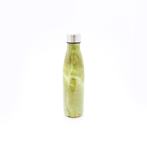 Fashion Water Bottle - Yellow Marble