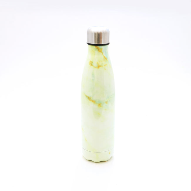 Fashion Water Bottle - White Marble