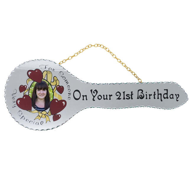 21st Mirrored Key - On Your 21st Birthday