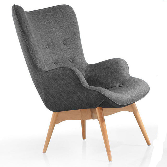 ... Mid Century Modern Armchair Chair Retro Contour Chair Living Room  Furniture Muted Fabric Armchair Fabric Upholstery