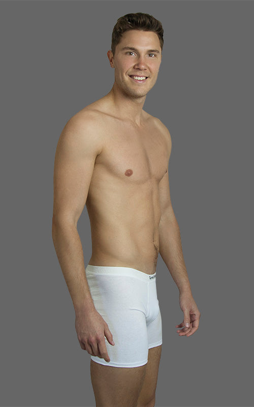 Men's Comfy Trunks, Long Leg - White