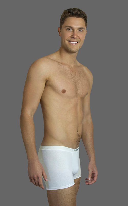 SOLD OUT! - Men's Comfy Trunks, Short Leg - White