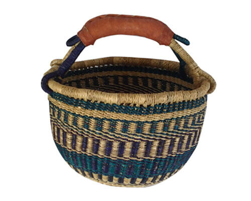 Baby Basket (Leather Handle)