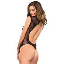 Leg Avenue Stretch Lace G-String Teddy UK 8 to 14