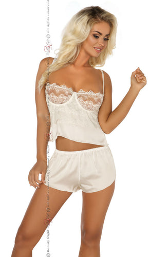 White camisole and shorts lingerie set