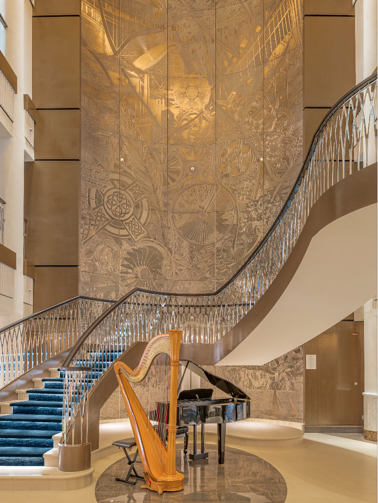 Spirit of Discovery Luxury Cruise Ship Features Huge Jesmonite Art Piece