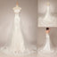 Affordable Lace Strapless Pretty Mermaid Wedding Dresses with Short Train,Shining Rhinestone Bridal Dress,220007