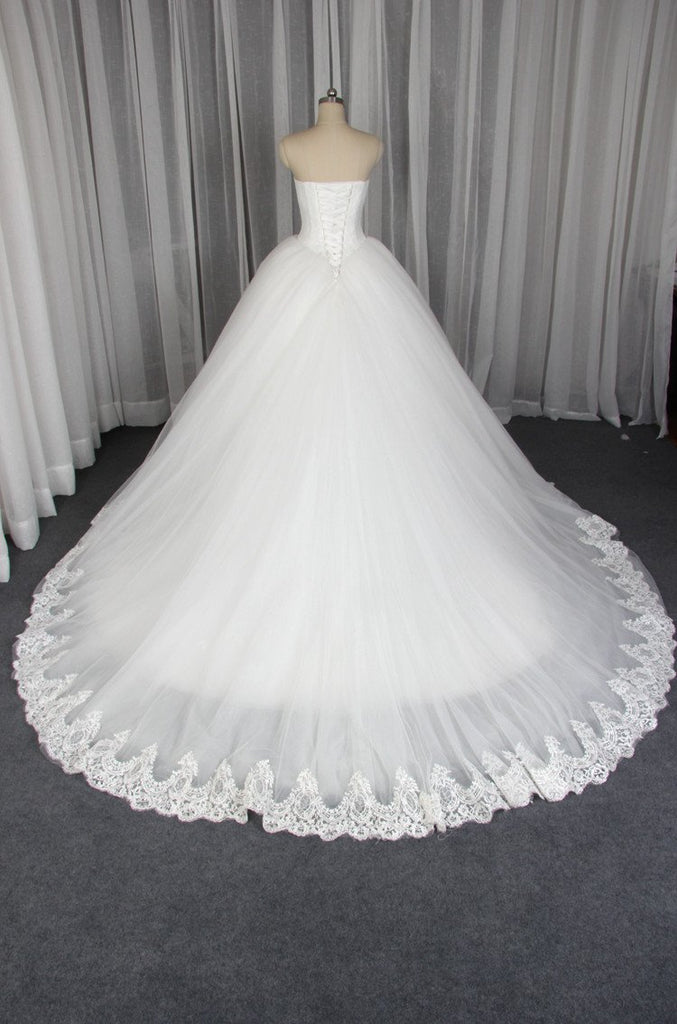 Elegant Sheath White Lace Gorgeous Wedding Party Dresses, Popular Bridal Gown, WD0096