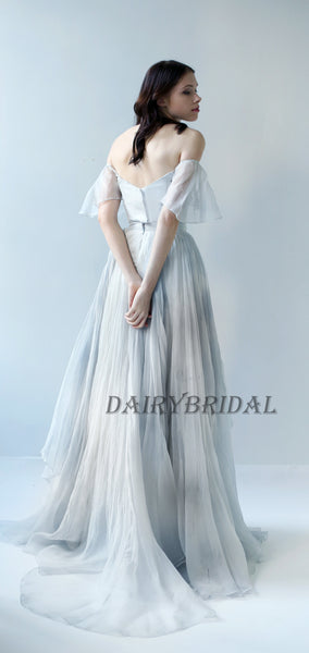 Charming Off the Shoulder Printed Backless A-Line Vintage Prom Dresses, D101