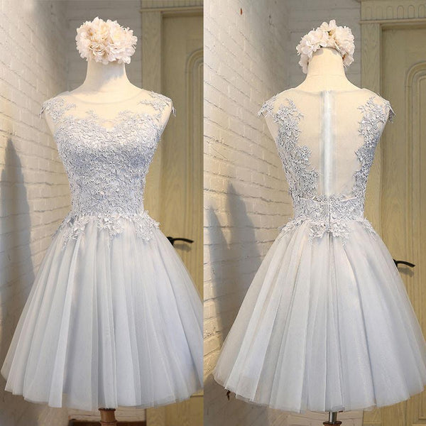 New Arrival Simple Sleeveless Homecoming Dresses,Lace Freshman Homecoming Prom Dresses,220011