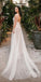 Charming A-Line Tulle Sleeveless Lace Backless Wedding Dresses, FC1903