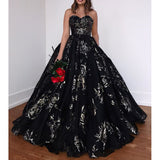 Sweetheart Lace A-line Backless Charming Prom Dress with Pockets, FC2371