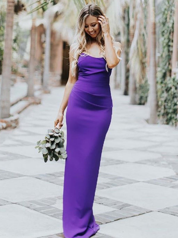 Charming Mermaid Backless Sexy Slit Newest Bridesmaid Dress, FC2546