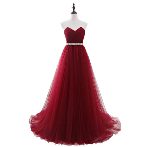 Long Prom Dresses, Tulle Prom Dresses, A-Line Party Prom Dresses, Sweet Heart Prom Dresses, Sequin Prom Dresses, Beading Prom Dresses Online, LB0254