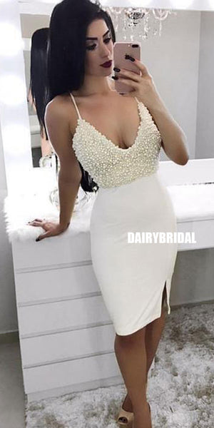 Luxury Beaded Mermaid Backless Homecoming Dress, FC2568