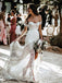 Sweetheart Lace Backless Slit Mermaid Wedding Dresses, FC2629
