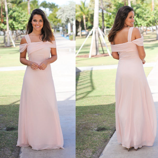 5eae5e4cc8d Chiffon Off-Shoulder Bridesmaid Dress