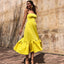 A-line Simple Tea-length Jersey Backless Homecoming Dress, FC2671