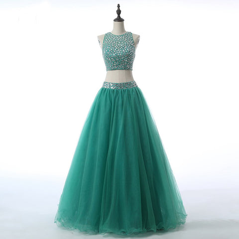 Long Prom Dresses, Two Pieces Prom Dresses, Tulle Party Prom Dresses, Sequin Prom Dresses, Beading Prom Dresses, Rhinestone Prom Dresses Online, LB0313