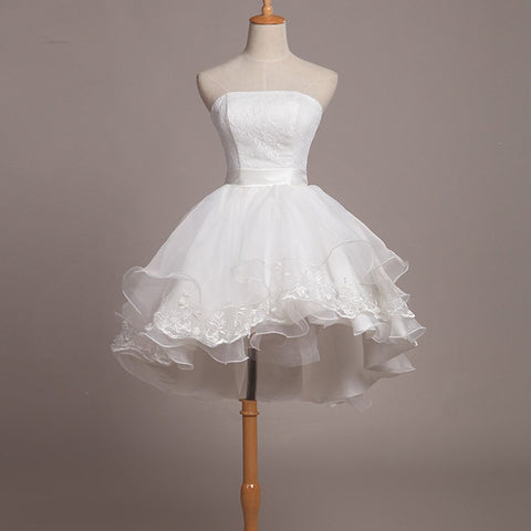 Short Homecoming Dress, Tulle Homecoming Dress, Sweet Heart Homecoming Dress, Lace Junior School Dress, Graduation Dress, White Homecoming Dress, LB0319