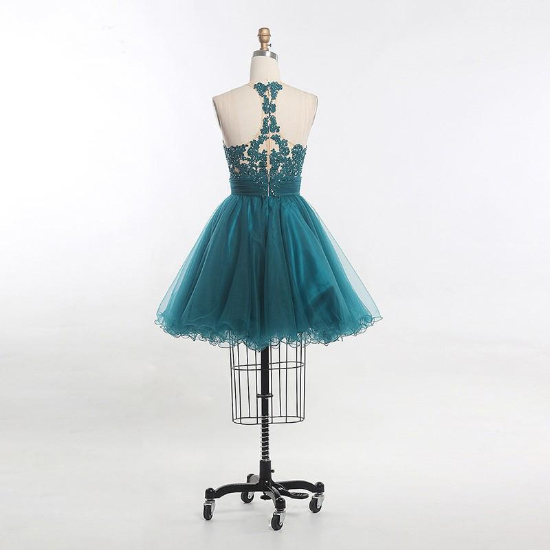 Short Homecoming Dress, Tulle Homecoming Dress, Sleeveless Homecoming Dress, Lace Junior School Dress, Beading Homecoming Dress, LB0338