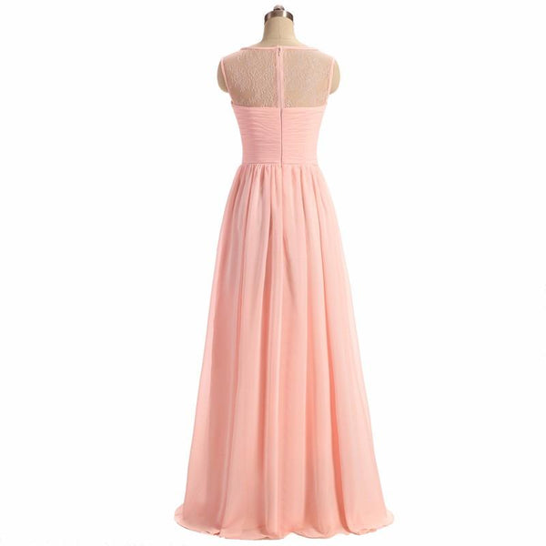 Long Bridesmaid Dress, Sleeveless Bridesmaid Dress, A-Line Bridesmaid Dress, Chiffon Dress for Wedding, Tulle Bridesmaid Dress, Simple Design Bridesmaid Dress, LB0362