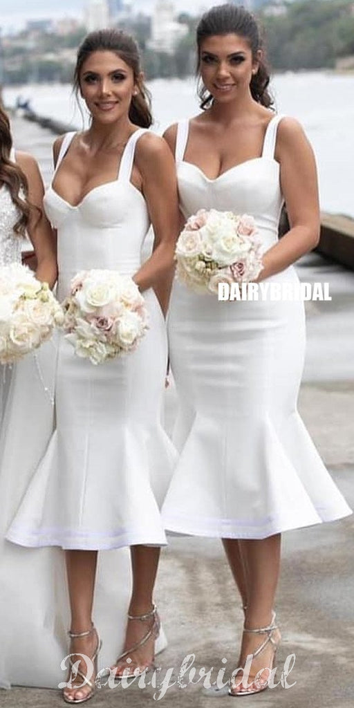 Ivory Mermaid Double FDY Sweetheart Sleeveless Gorgeous Bridesmaid Dress, FC3750