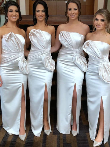 Charming Mermaid Backless Sexy Slit Bridesmaid Dress, FC3751