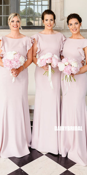 Charming Mermaid V-back Floor-length Bridesmaid Dress, FC3809