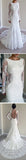 Gorgeous Round Neck Long Sleeve Sexy Mermaid Backless Lace Wedding Party Dresses, WD0040